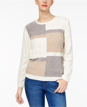 Alfred Dunner Eskimo Kiss Colorblocked Chenille Sweater