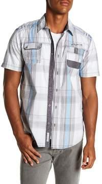 ProjekRaw Projek Raw Plaid Short Sleeve Modern Fit Shirt
