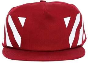 Off-White Stripes Print Cotton Canvas Baseball Hat