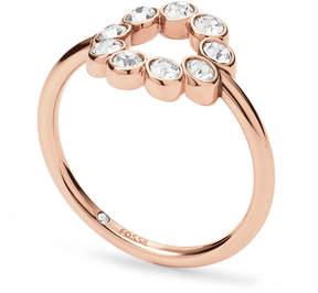 Fossil Vintage Glitz Bezel Ring