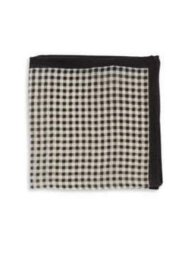 Black & Brown Black Brown Checked Pocket Square