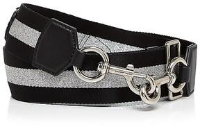 Marc Jacobs Teardrop Webbing Handbag Strap - BLACK/SILVER - STYLE