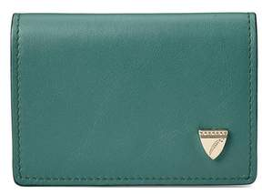 Aspinal of London Accordion Credit Card Holder In Smooth Sage
