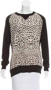 Barneys New York Barney's New York Silk-Accented Raglan Sweater