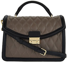 Vera Bradley As Is Quilted Leather Satchel - Lydia - ONE COLOR - STYLE