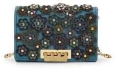 Zac Posen Earthette Floral Applique Crossbody Bag
