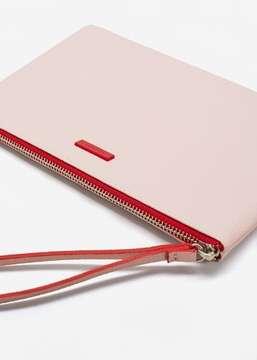 MANGO Contrast-strap zipper cosmetic bag