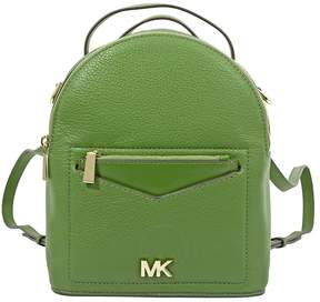 Michael Kors Jessa Small Pebbled Leather Convertible Backpack- True Green - ONE COLOR - STYLE