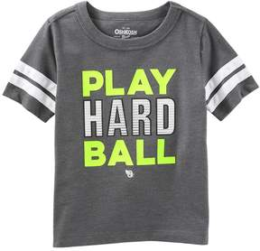Osh Kosh Oshkosh Bgosh Boys 4-12 Play Hard Ball Baseball Tee