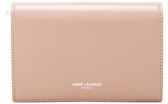 Saint Laurent Large Fragments Flap Wallet in Neutrals,Pink. - NUDE PINK - STYLE