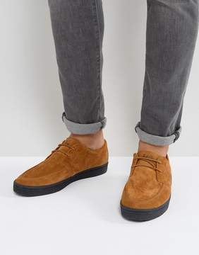 Fred Perry Shields Suede Crepe Sneakers in Tan