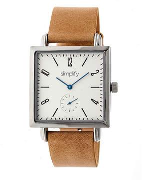 Simplify Mens Brown Strap Watch-Sim5005