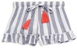 Vintage Havana Girl's Striped Ruffle Shorts