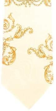 Gianni Versace Ornate Leopard Print Silk Tie