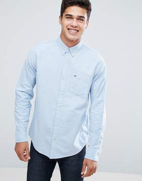 Hollister Oxford Shirt Buttondown Slim Fit in Blue