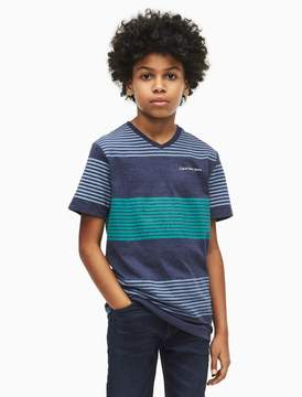 Calvin Klein boys wide stripe crewneck t-shirt