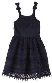 Nanette Lepore Shiny Ponte Navy Dress.
