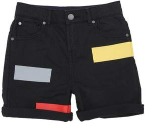 Stella McCartney Stretch Denim Shorts W/ Printed Details