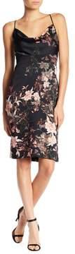 Adelyn Rae Rosanna Cowl Neck Lace-Up Dress