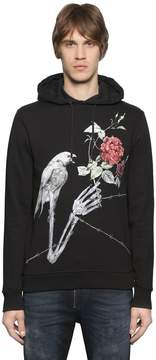 Just Cavalli Printed Hooded Cotton Sweatshirt