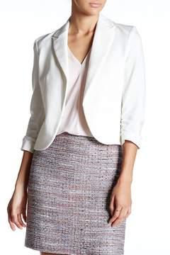 Atelier Luxe Shirred Ponte Jacket (Petite)
