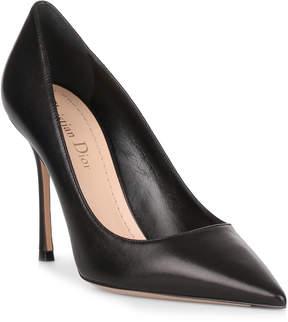 Christian Dior D Stiletto black leather pump