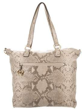 MICHAEL Michael Kors Embossed Animal Print Satchel