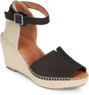 Gentle Souls Women's Charli Leather Espadrille Wedge Sandals
