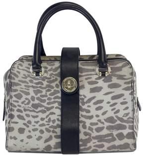 Karen Millen Black & Grey Hued Leopard Print Handbag