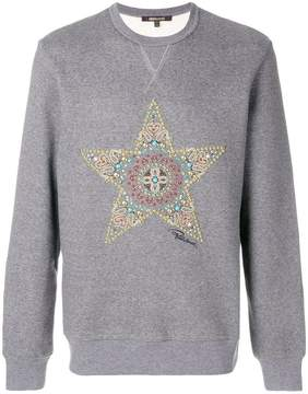 Roberto Cavalli embellished star sweatshirt