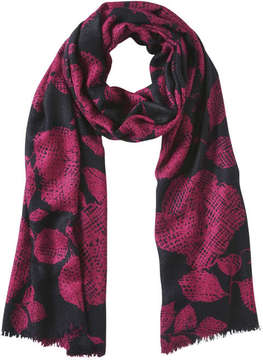 Joe Fresh Women's Print Winter Scarf, Burgundy (Size O/S)
