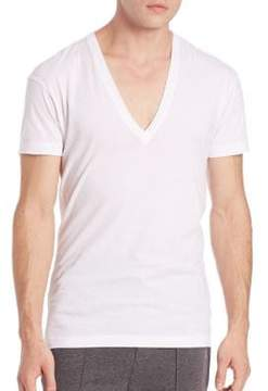 2xist Solid Dipped V-Neck Tee