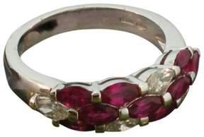 Damiani 18K White Gold Ruby & Diamond Ring