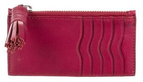 Rebecca Minkoff Leather Card Holder - PINK - STYLE