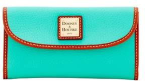 Dooney & Bourke Pebble Grain Continental Clutch Wallet - JADE - STYLE