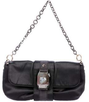 Lanvin Mother of Pearl-Embellished Satin Shoulder Bag