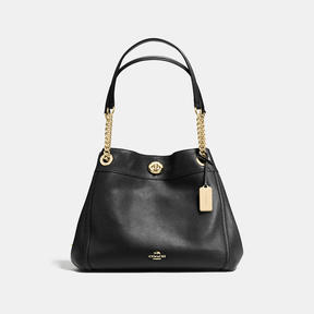 COACH Coach Turnlock Edie Shoulder Bag - LIGHT GOLD/BLACK - STYLE