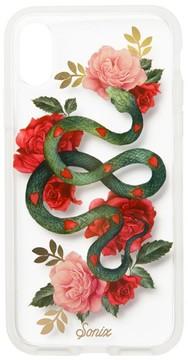 Sonix Snake Heart Print Iphone X Case - Green
