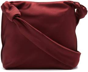 The Row Wander small leather satin bag