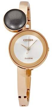 Citizen Silhouette Quartz Rose Gold Ladies Watch EW5493-85X
