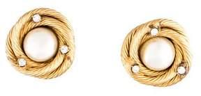 Chanel Pearl & Crystal Earrings