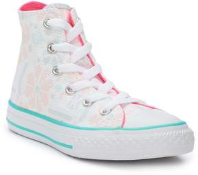 Converse Girls' Chuck Taylor All Star Winter Floral High Top Sneakers