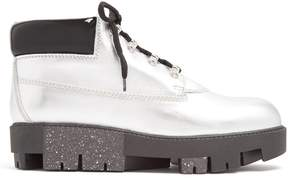 Acne Studios Tinne track-sole leather ankle boots