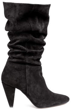 H&M Suede boots - Black