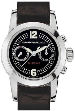 Girard Perregaux Girard Perragaux Collection Lady 18kt White Gold Black Leather Ladies Watch