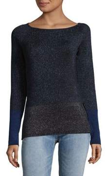 Ellen Tracy Colorblock Ribbed Sweater