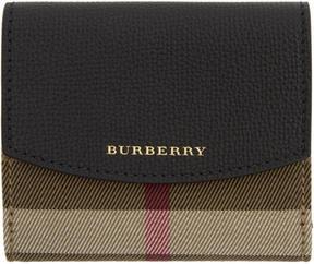 Burberry Black Luna House Check Derby Wallet - BLACK - STYLE