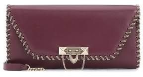 Valentino Demilune leather clutch