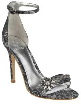 GUESS Women's Partyer Metallic Ankle-Strap Heels