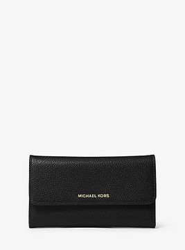 Michael Kors Mercer Tri-Fold Leather Wallet - BLACK - STYLE